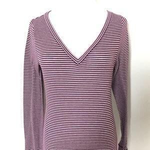 2/$15 Hollister Striped V Neck Long Tunic Size M